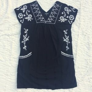 Lucky Brand Black Embroidered Dress